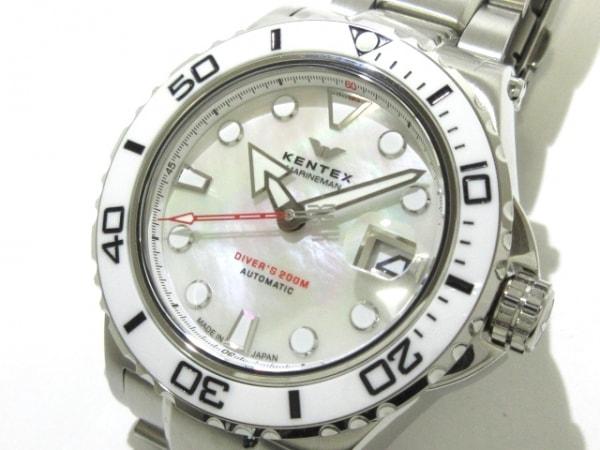 Kentex(ケンテックス) 腕時計美品  MSH1811788506 メンズ シェル文字盤/限定品 白
