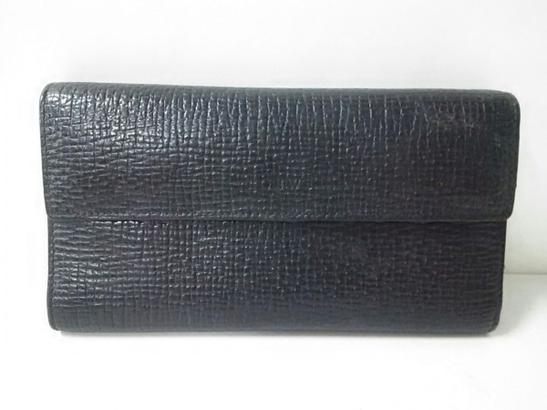 LOEWE(ロエベ) 長財布美品  - 黒 型押し加工 レザー
