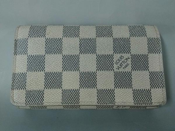 ルイヴィトン 2つ折り財布 ダミエ ポルトフォイユ・トレゾール N61744 アズール