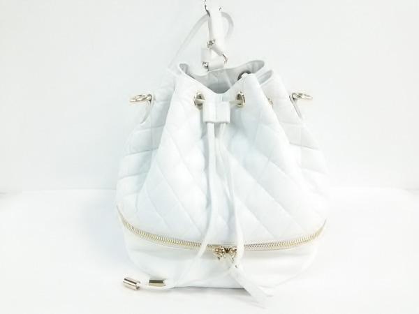 HASHIBAMI(ハシバミ) リュックサック 白 SLOBE IENA/キルティング/巾着型/2WAY 合皮