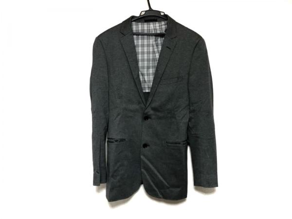 バーバリーブラックレーベル ジャケット サイズLL メンズ美品  グレー 肩パッド