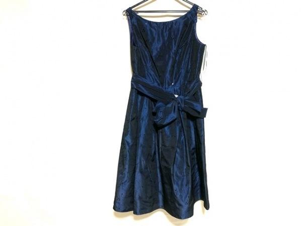 ジュネビビアン ドレス サイズ11 M レディース美品  ネイビー 刺繍/スパンコール