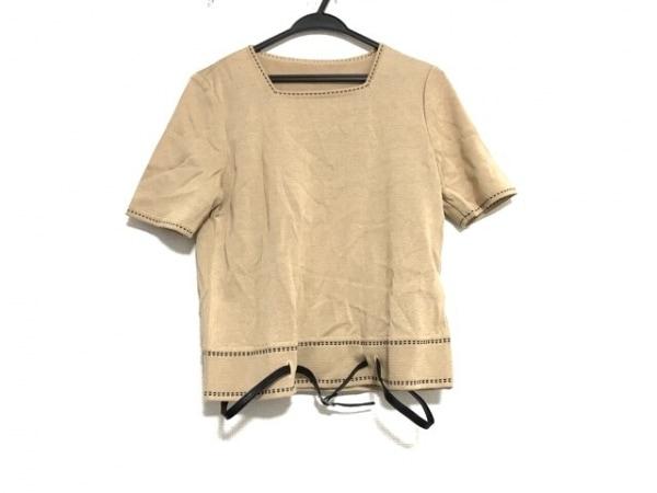 Leilian(レリアン) 半袖セーター サイズ9 M レディース美品  ベージュ