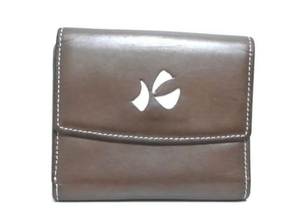 KITAMURA(キタムラ) 2つ折り財布 ブラウン レザー
