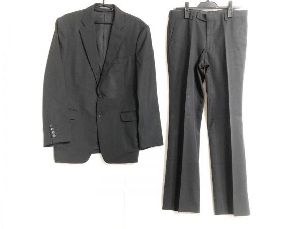 CK39(カルバンクライン) シングルスーツ メンズ 黒×グレー ストライプ