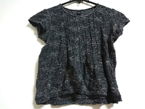 Y's(ワイズ) 半袖カットソー サイズ2 M レディース新品同様  黒×白