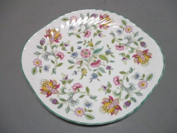 MINTON(ミントン) プレート新品同様  白×マルチ 花柄 陶器