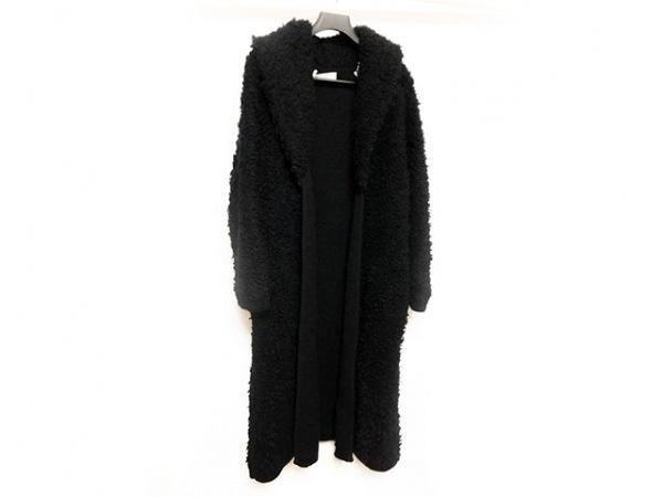 SONIARYKIEL(ソニアリキエル) コート サイズ40 M レディース美品  黒 ニット/冬物