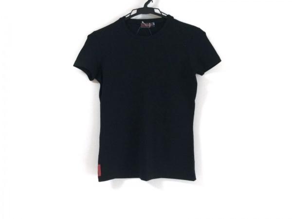プラダスポーツ 半袖Tシャツ サイズXS レディース新品同様  黒 ファスナーポケット