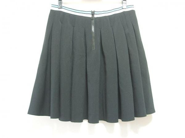 MANOUSH(マヌーシュ) スカート サイズ42 L レディース 黒×白×ライトブルー プリーツ