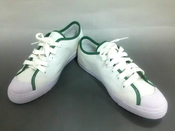 Lacoste(ラコステ) スニーカー レディース美品  白×グリーン キャンバス