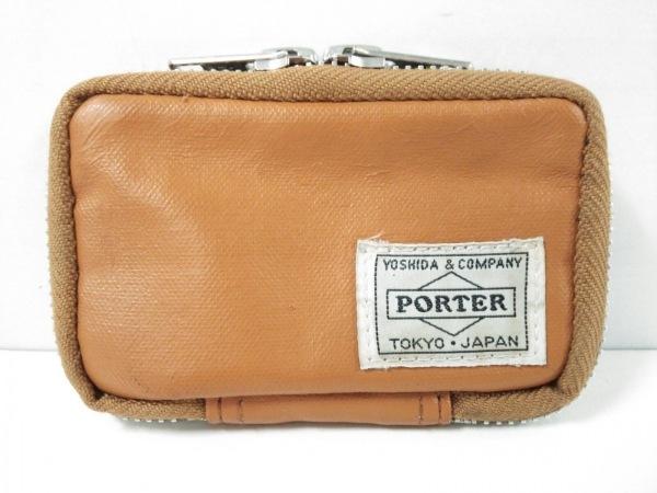 PORTER/吉田(ポーター) キーケース - ライトブラウン 6連フック/ラウンドファスナー