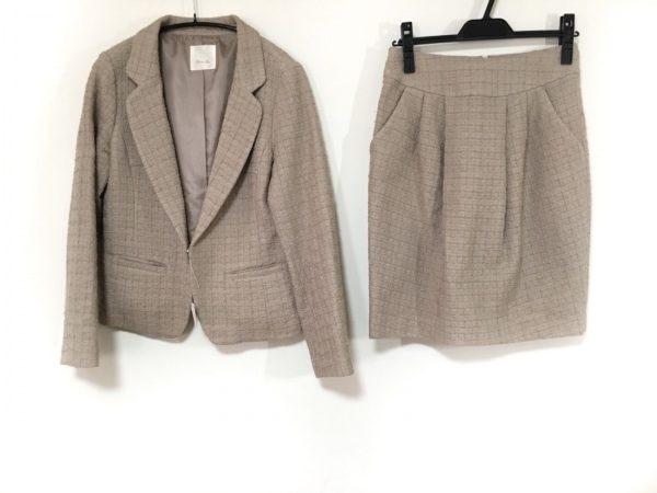 Spick&Span(スピック&スパン) スカートスーツ サイズ38 M レディース - - ベージュ