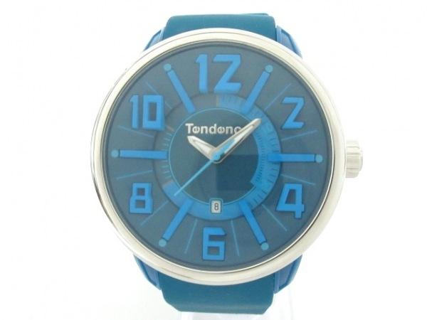 TENDENCE(テンデンス) 腕時計美品  TG730003 メンズ ラバーベルト ブルー