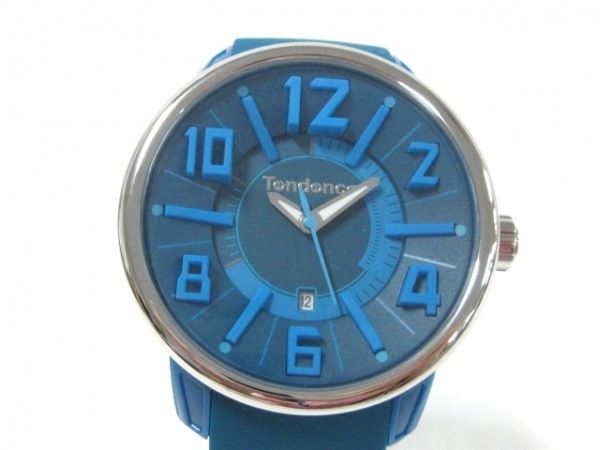 TENDENCE(テンデンス) 腕時計 TG730003 メンズ ラバーベルト ブルー