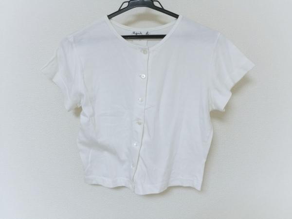 agnes b(アニエスベー) カーディガン レディース 白 半袖