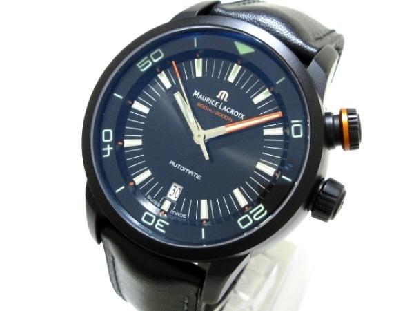 モーリスラクロア 腕時計美品  ポントスSダイバー PT6248-PVB01-332-2 メンズ 黒