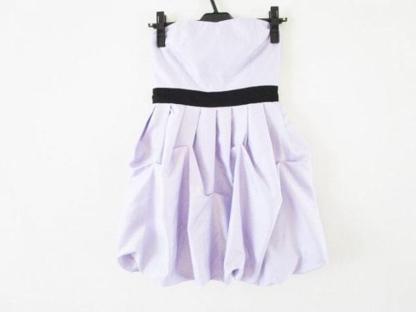ドレアング ドレス サイズS レディース パープル×黒 プリーツ/バルーンスカート