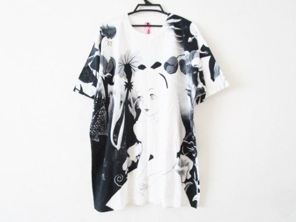 ahcahcum(アチャチュム) チュニック サイズ38 M レディース 白×黒×ライトグレー