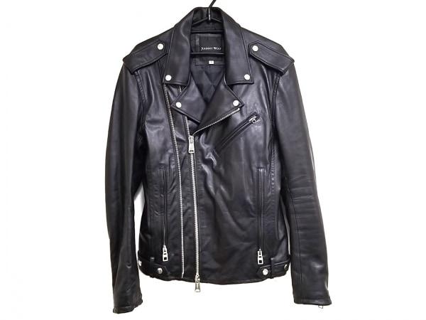 ジョニーウルフ ライダースジャケット サイズ3 L メンズ美品  黒 冬物/ジップアップ