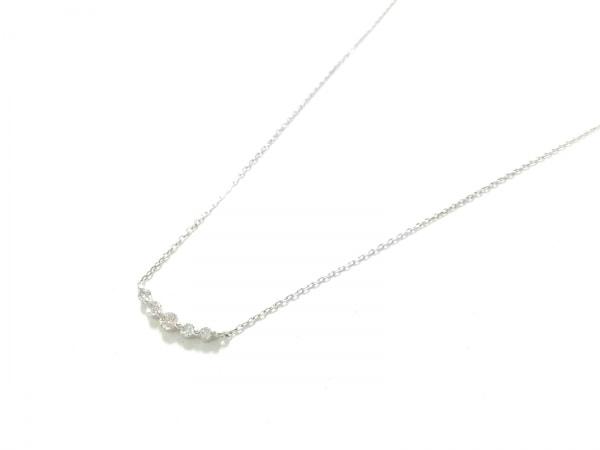 ノーブランド ネックレス美品  K18WG×ダイヤモンド クリア 総重量:1.0g/0.10刻印