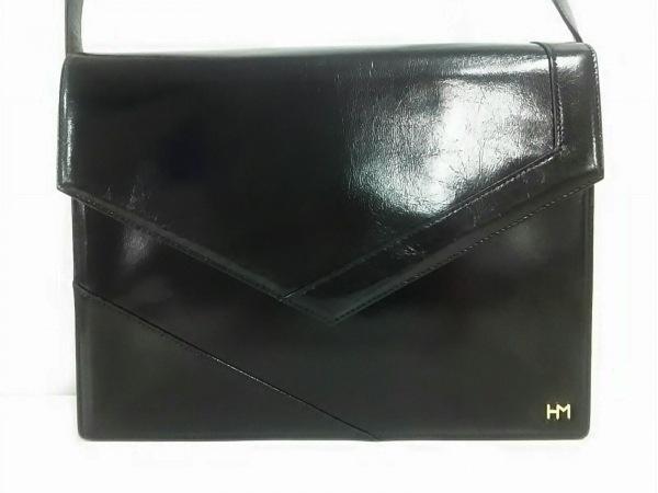 HANAE MORI(ハナエモリ) ショルダーバッグ 黒 レザー