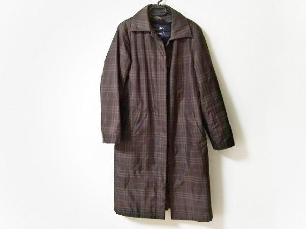 バーバリーロンドン コート サイズ40 L レディース美品  ダークブラウン×アイボリー