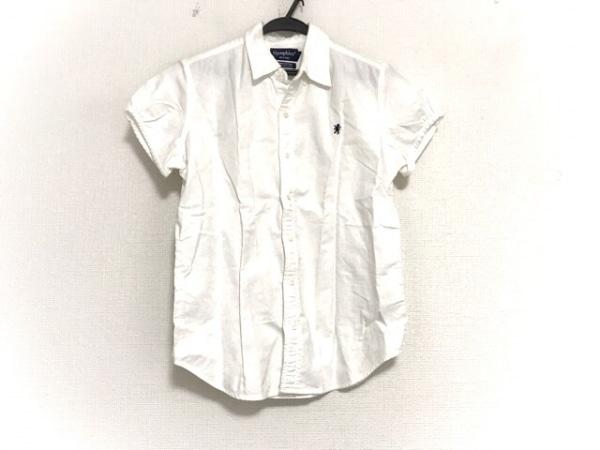 ジムフレックス 半袖シャツブラウス サイズ14 XL レディース美品  アイボリー