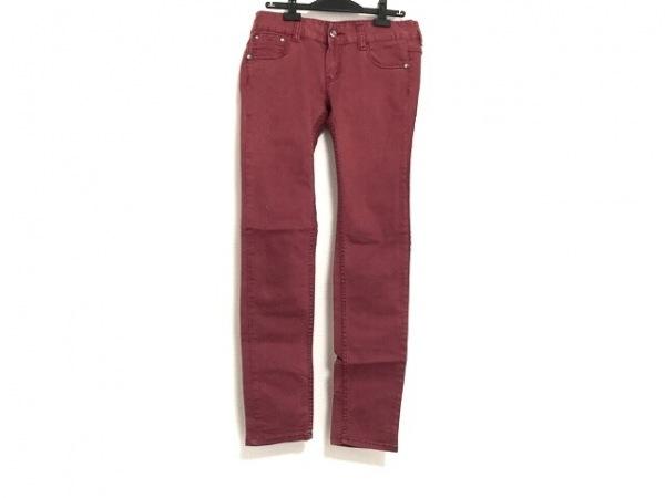 レッドペッパー パンツ サイズ29 XL レディース レッド×マルチ スタッズ/ビジュー