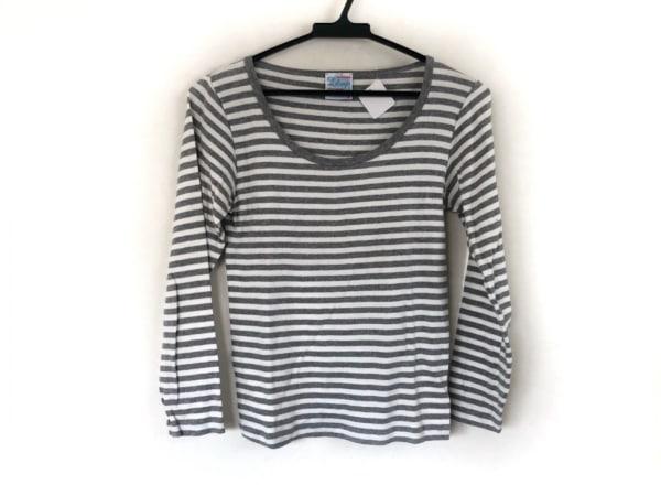 Letroyes(ルトロワ) 長袖Tシャツ サイズM レディース美品  白×ライトグレー ボーダー