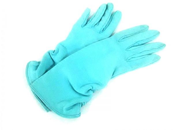 FOXEY(フォクシー) 手袋 レディース ライトブルー レザー