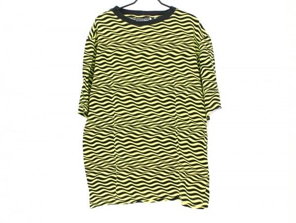 ヴェルサーチクラシック 半袖Tシャツ サイズM メンズ 黒×イエロー V2