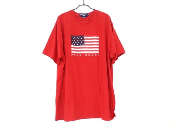 ポロスポーツラルフローレン 半袖Tシャツ サイズXL メンズ美品  レッド×白×マルチ