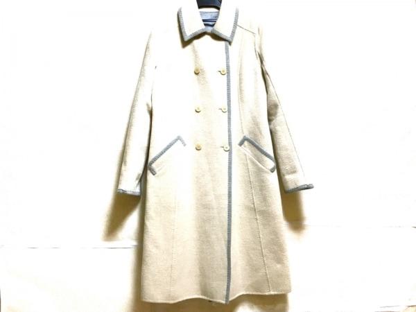 HARRODS(ハロッズ) コート サイズ2 M レディース美品  アイボリー×グレー 冬物