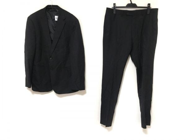 UNITED ARROWS(ユナイテッドアローズ) シングルスーツ サイズ52 メンズ 黒 ストライプ