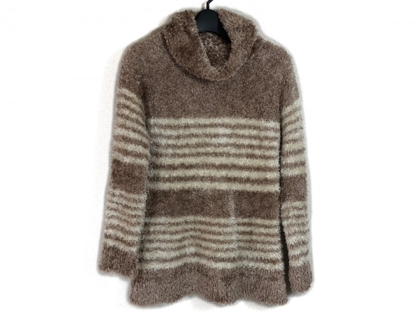 マサキマツシマ 長袖セーター サイズL レディース ライトブラウン×アイボリー