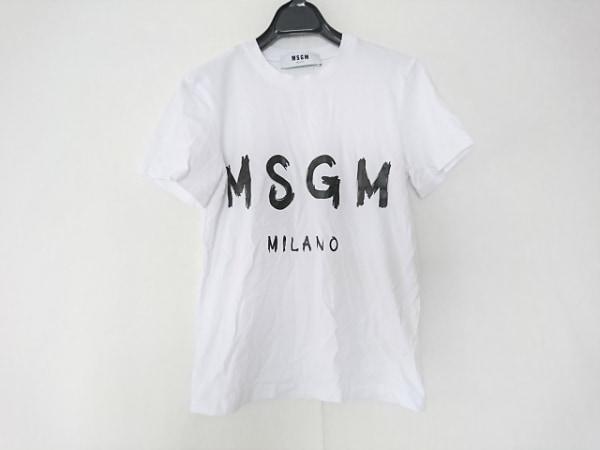 MSGM(エムエスジィエム) 半袖Tシャツ サイズXS レディース 白