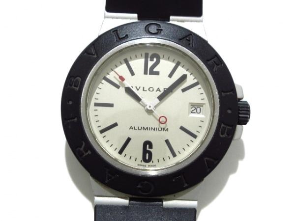 super popular 3fabe 2656d BVLGARI(ブルガリ) 腕時計 アルミニウム AL38A メンズ ラバーベルト シルバー