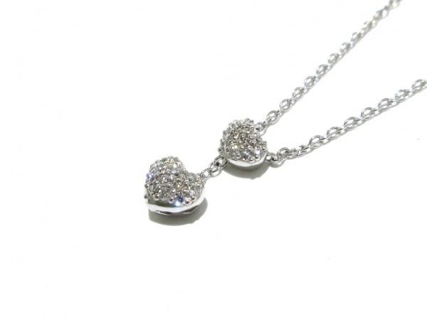 ポンテヴェキオ ネックレス美品  K18WG×ダイヤモンド 0.17カラット/ハート