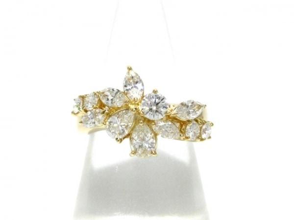 タサキシンジュ リング新品同様  K18YG×ダイヤモンド 12Pダイヤ/1.48カラット