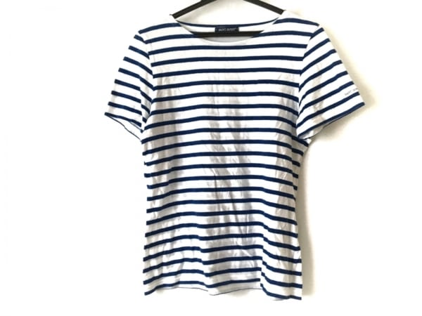 セントジェームス 半袖Tシャツ サイズ4 XL レディース 白×ブルー ボーダー