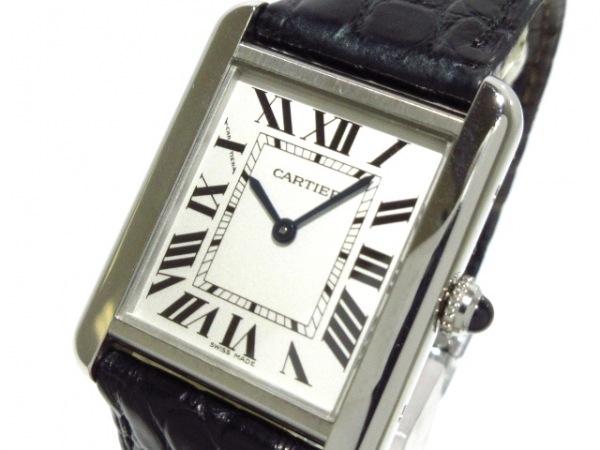Cartier(カルティエ) 腕時計 タンクソロSM - レディース SS/革ベルト シルバー
