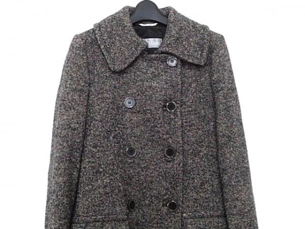 Max Mara(マックスマーラ) コート サイズ42 M レディース美品  黒×ベージュ 冬物
