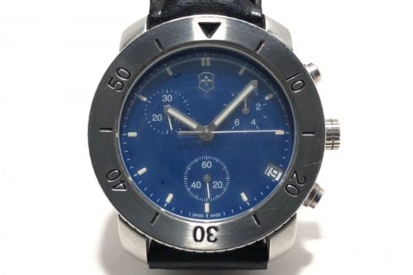 VICTORINOX(ヴィクトリノックス) 腕時計 V7-12 メンズ クロノグラフ/革ベルト ブルー