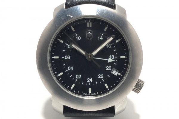 VICTORINOX(ヴィクトリノックス) 腕時計 V7-02GMT メンズ 革ベルト 黒