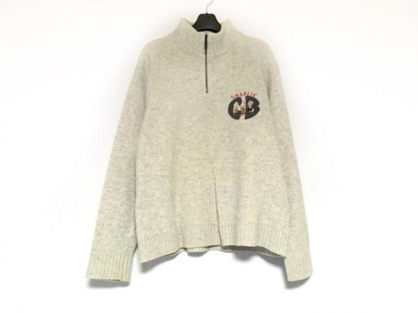 Castelbajac(カステルバジャック) 長袖セーター サイズ46 XL メンズ ライトグレー