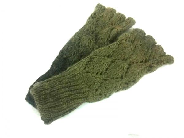DIESEL(ディーゼル) 手袋 レディース美品  グリーン×ダークグリーン ウール