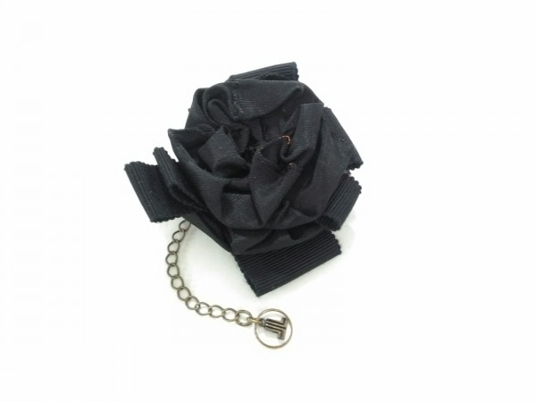 LANVIN COLLECTION(ランバンコレクション) アクセサリー美品  化学繊維×金属素材 黒