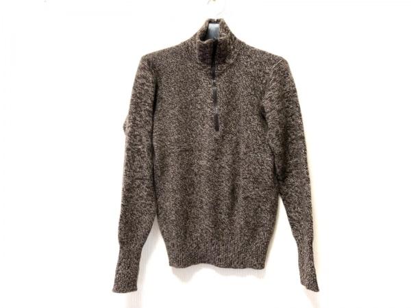 CHANEL(シャネル) 長袖セーター サイズ38 M レディース ダークブラウン×アイボリー