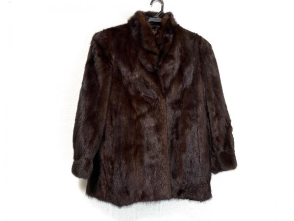 SAGA MINK(サガミンク) コート サイズ13 L レディース ダークブラウン 冬物
